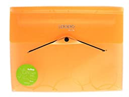 Shuter 7 Pockets A4 Expanding Accordion File Folder with Elastic String and Button Closure,and Subject Labels.(Orange)