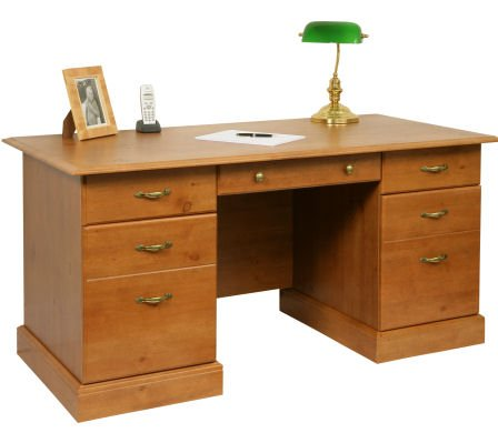 French Gardens Odessa Pine Desk with Middle Drawer