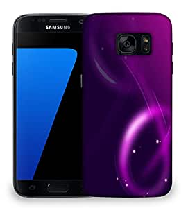 Snoogg Neon Purple Design Designer Protective Phone Back Case Cover For Samsung Galaxy S7