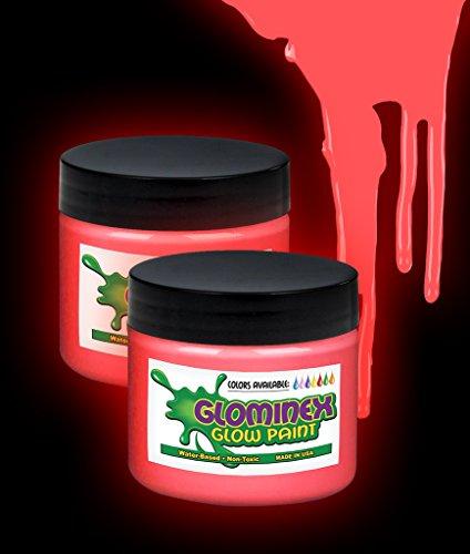 Glominex Glow Paint 2 oz Jar Red - 1