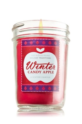 Bath & Body Works Holiday Traditions Winter Candy Apple scented Mason Jar Candle