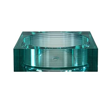 Xylem GV105RSQ Segment Square Glass Vessel Sink