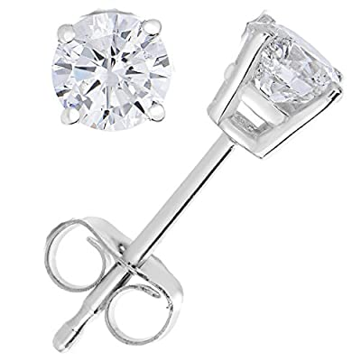 1/2 CT Diamond Stud Earrings 14k Gold