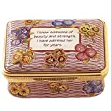 Halcyon Days Enamels Family Messages Collection I know someone of beauty - Mother