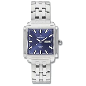 Men's Square Sartego Land Master Watch Blue Dial