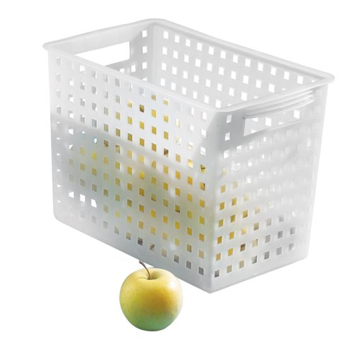 InterDesign Modulon X4 Storage Basket, Frost