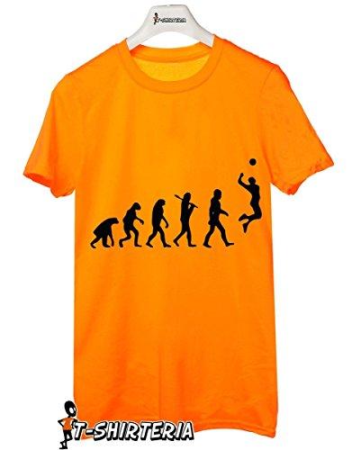 t-shirt volley evolution-evoluzione pallavolo- sport evolution tutte le taglie uomo donna maglietta by tshirteria