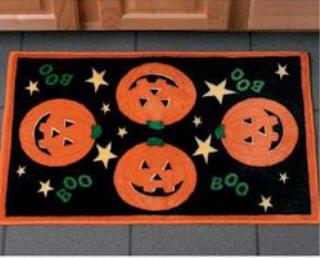 Bathmat -Halloween Jack o lantern pumpkin Rug