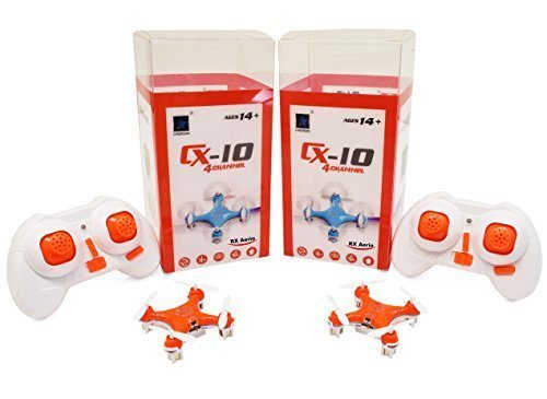 [2-Pack RX Aerio Exclusive] Cheerson CX-10 Mini 4CH 2.4GHz 6-Axis