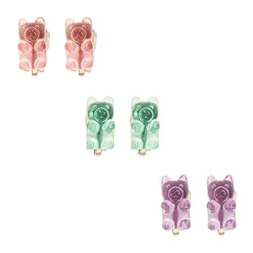 Claire's Accessories Girls Gummy Bear Clip On Stud Earring Set