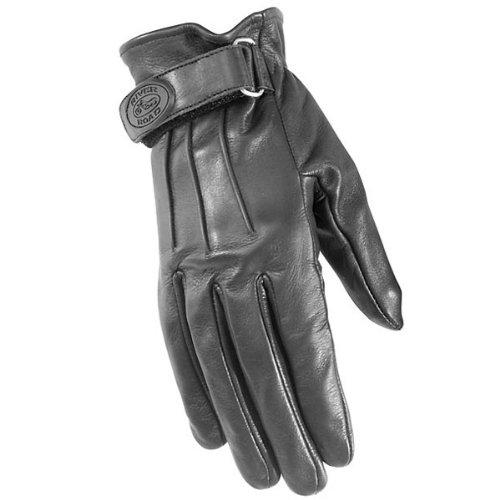 River Road Laredo Women's Leather Harley Cruiser Motorcycle Gloves - Black / X-Large