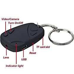 Krazzy Collection Audio/Video Recording Key Chain Spy Camera