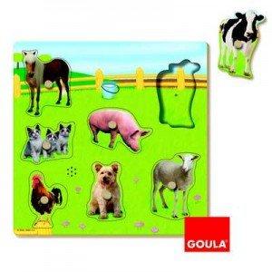 Diset 53076 - Puzzle Con Sonido Animales Granja