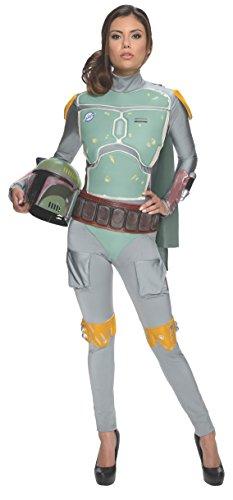Rubie's Costume Women's Star Wars Boba Fett Woman's Deluxe Costume Jumpsuit, Multi, Medium