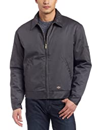 Dickies Men\'s Insulated Eisenhower Jacket, Charcoal, Medium