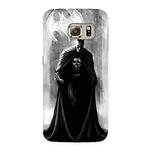 Delighted White Moon Knight Multicolor Back Case Cover for Samsung Galaxy S6 Edge Plus
