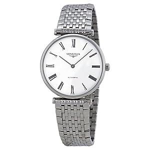 Longines La Grande Men's ETA 2000 Ultra Thin Automatic Watch White Dial Glassback