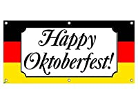 Happy Oktoberfest Germany Flag Party Banner from Graphics and More