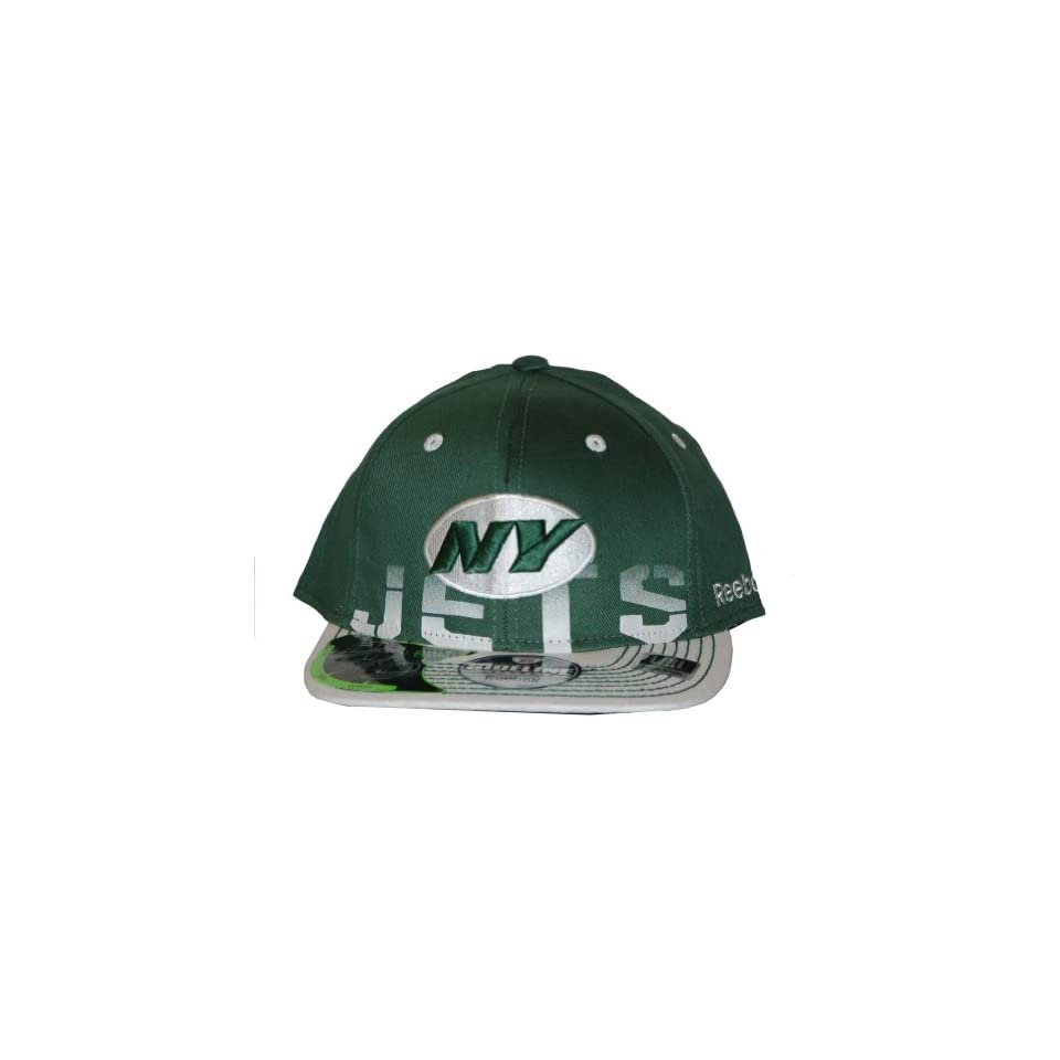 69a80d27b2e NFL New York Jets Reebok Official Sideline Fitted Hat Cap on PopScreen