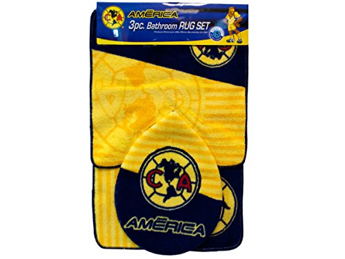 3 PC SETS:CLUB AMERICA BATHROOM RUGS