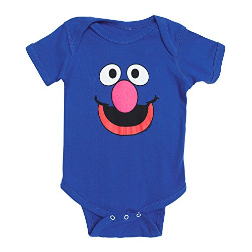 Sesame Street Grover Face Baby Romper Snapsuit