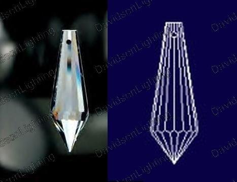 38mm Crystal Icicle U-Drop Pencil Crystals #432-38