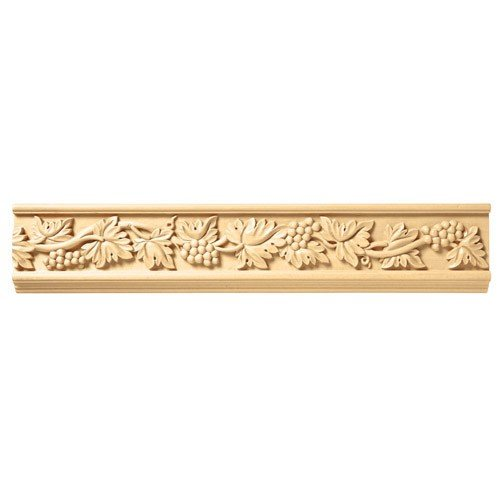 Brown Wood Inc. 01806002SM1 Full Vineyard Carved Wood Frieze, Soft Maple