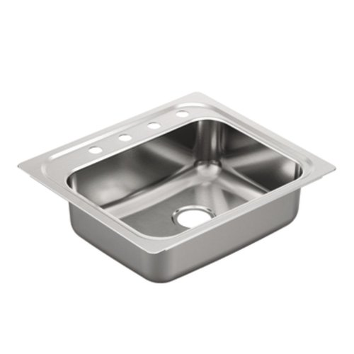 Moen G201964 2000 Series Single Bowl Undermount Sink, 20-Gauge, Stainless Steel
