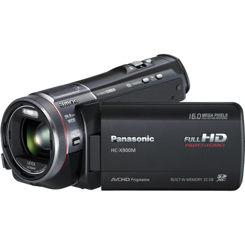 Panasonic HC-X900K 3D Ready Full HD Camcorder, Wide 3.5