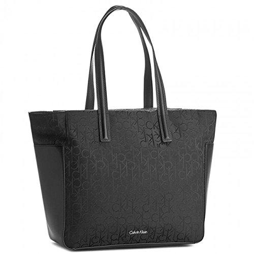 Borsa donna Calvin Klein Jeans Nin4 large tote nero logato