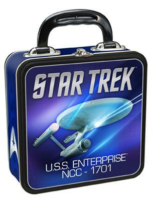 Vandor 80170 Star Trek Square Tin Tote, Multicolored