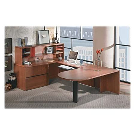 "Hon Right Pedestal Credenza with Lateral File, 72""x24""x29-1/2"", CY (HON10747RJJ) Category: Wood Credenzas"