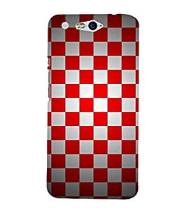 Chess Board Checks 3D Hard Polycarbonate Designer Back Case Cover for In Focus M812 :: InFocus M 812