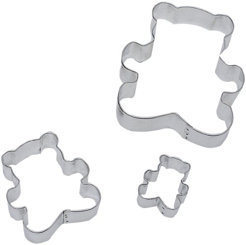 R & M Teddy Bear 3 Piece Cookie Cutter Set