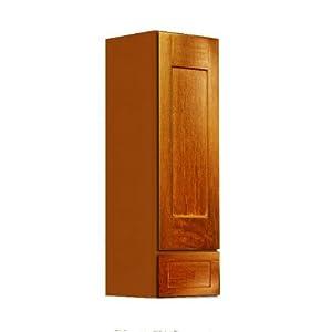 Shaker panel door style linen wall cabinet 15 wide 18 for 15 inch wide closet door
