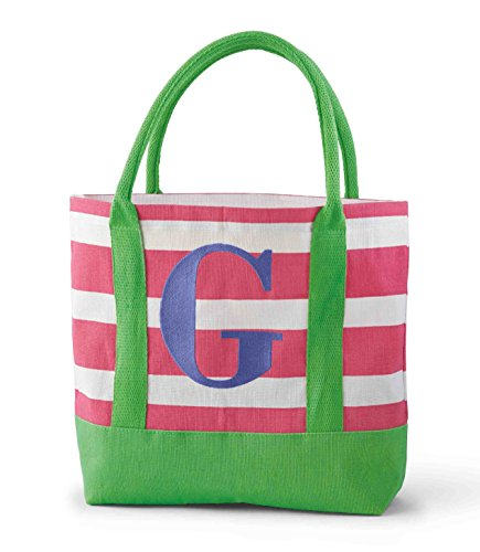 Mud Pie Juco Initial Tote, G