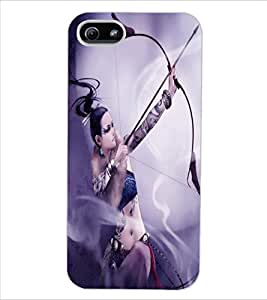 ColourCraft Warrior Girl Design Back Case Cover for APPLE IPHONE 5