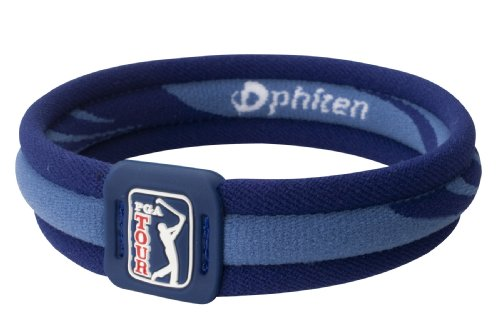 Phi-ten Pga Tour Bracelet X30 Titanium Bracelet X30 Pga Tour, Navy, 7.5 and #34