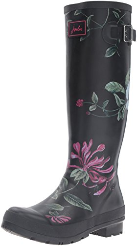 Joules-Womens-Wellyprint-Rain-Boot-Black-Hedge-8-M-US