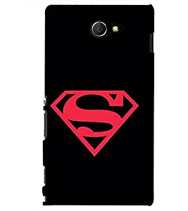 PRINTSHOPPII SUPERMAN FAN Back Case Cover for Sony Xperia M2 Dual D2302::Sony Xperia M2