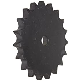 Martin Roller Chain Sprocket, Reboreable, Type A Hub, Single Strand, 24B Chain Size