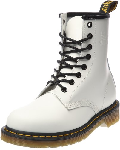 Dr. Martens Unisex Broken In 1460 White Lace Up Boot 10072104 5 UK
