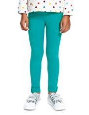 Cotton Rich Button Cuff Leggings with StayNEW™