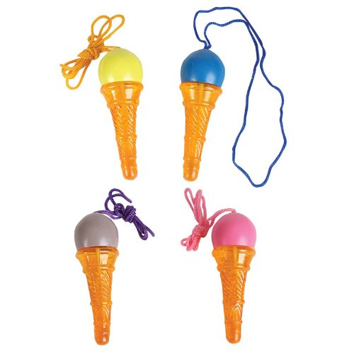 Ice Cream Cone Bubble Necklaces (1 dz) - 1