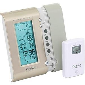 Oregon Scientific BAR608HGA Hide-Away Weather Forecaster with Clock