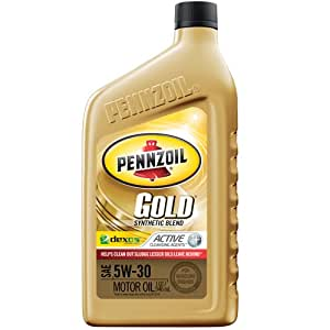 Pennzoil 550022692 6pk gold sae 5w 30 for Pennzoil 5w 30 synthetic motor oil