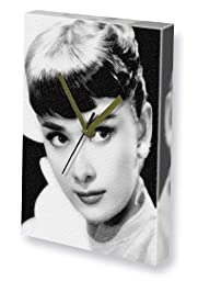 AUDREY HEPBURN - Canvas Clock (LARGE A3 - Signed by the Artist) #js002