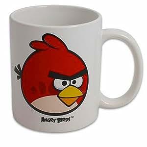 Red Angry Birds 11 Oz White Ceramic Coffee Mug