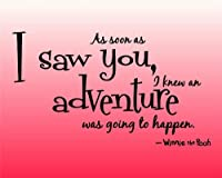 Design with Vinyl Design 204 As Soon As I Saw You Winnie The Pooh Quote Home Decor Sticker, 15-Inch By 20-Inch, Black by Design with Vinyl