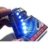 青 光 で 撃退 ブルー 6 LED スキャン セキュリティ ライト ソーラー 充電 衝撃 感知 A059